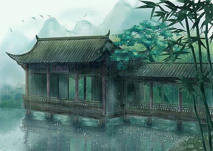 中国风水面小亭图片