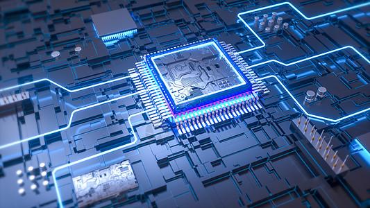 三维芯片场景图片