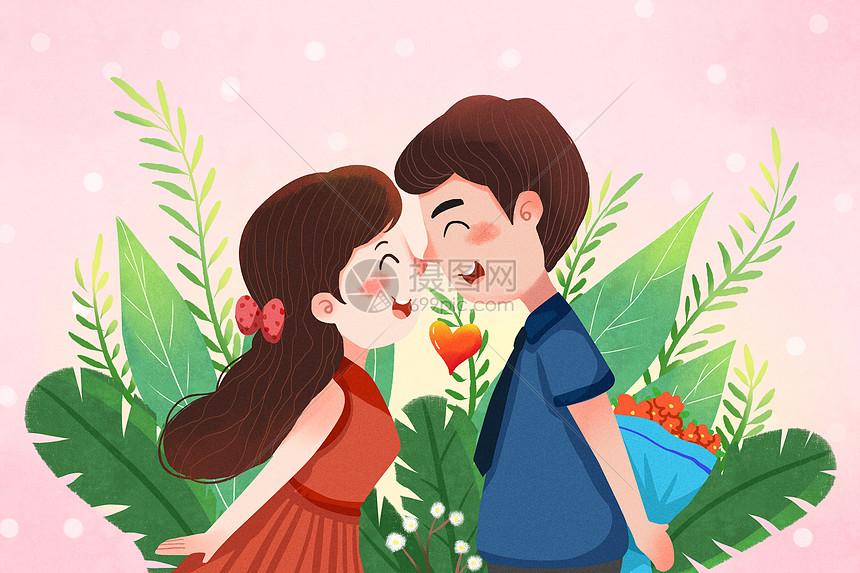 情侣恋爱的季节图片