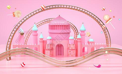 糖果色城堡图片