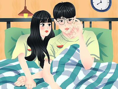 小清新风格520情人节情侣日常图片
