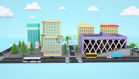 卡通城市建筑图片