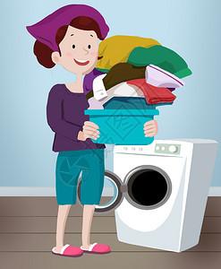 洗衣服图片