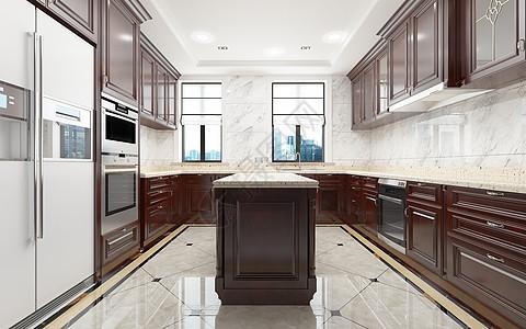 复古家庭厨房图片