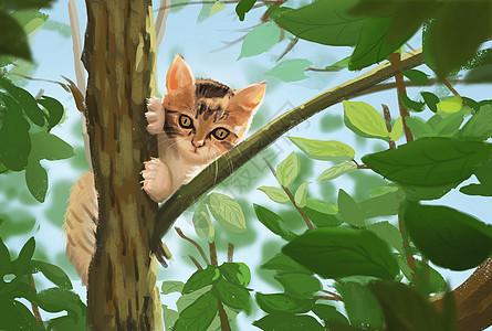 潮女儿_祈祷的猫插画图片下载-正版图片400091881-摄图网