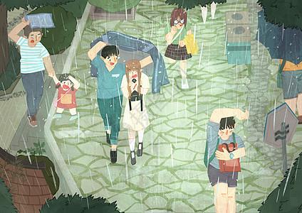 雨天避雨图片