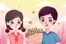 情侣恋爱图片