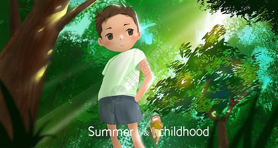 童年夏季图片