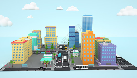 卡通城市空间图片