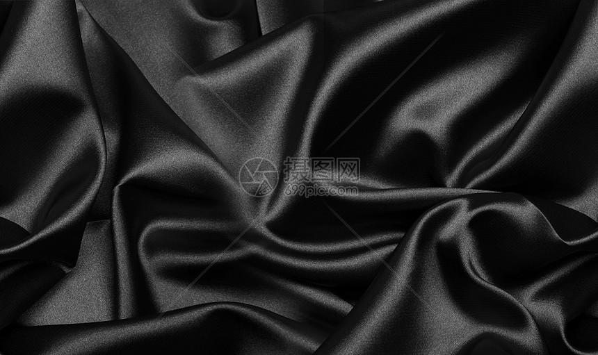 黑色色丝绸背景图片