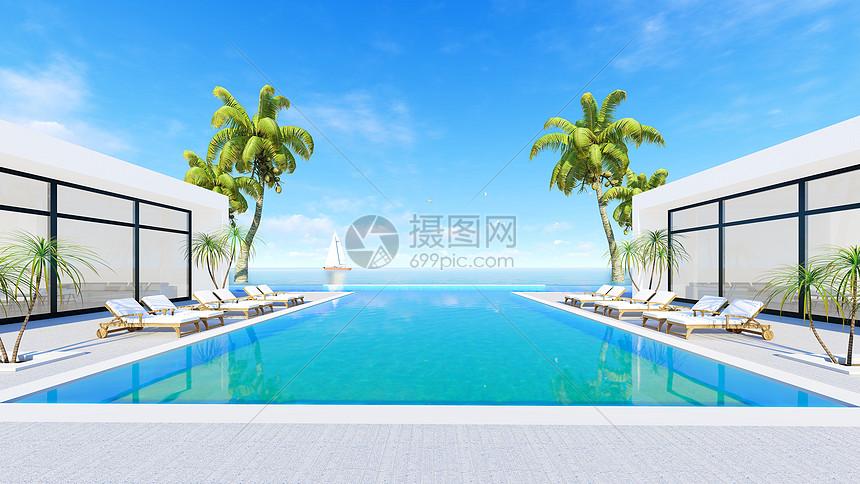 休闲度假游泳舒适海景房图片