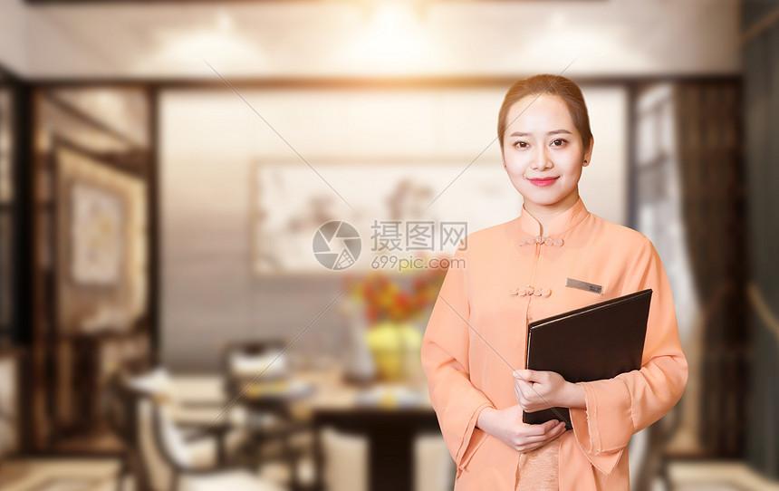 酒店服务员图片