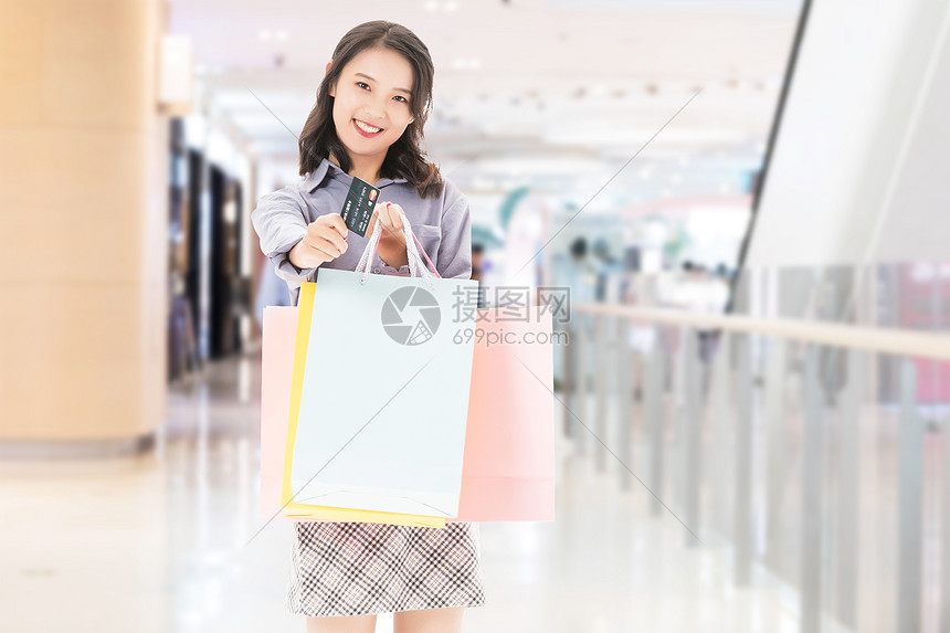 女性逛街图片