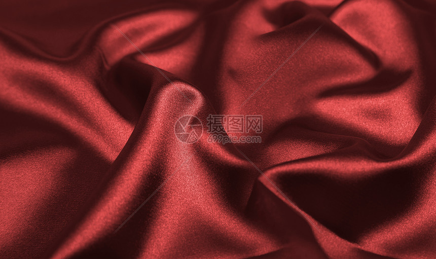 红色丝绸背景图片