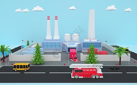 城市消防通道空间图片