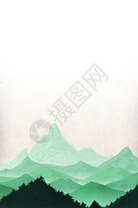 水墨山脉图片