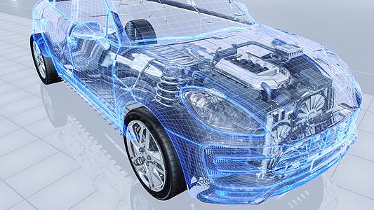 汽车透视结构场景图片