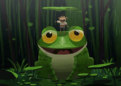 我和青蛙的夏天图片