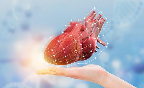 科幻手托心脏图片