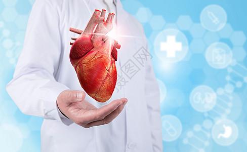 医生手托心脏图片