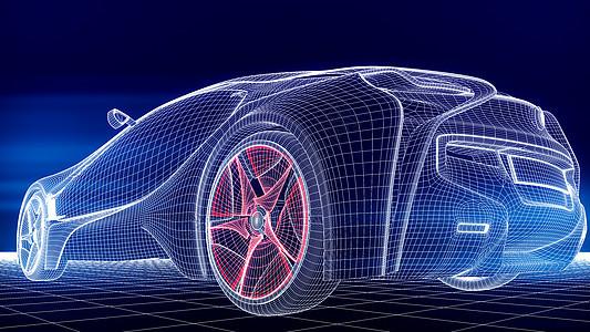 科技汽车炫酷场景图片