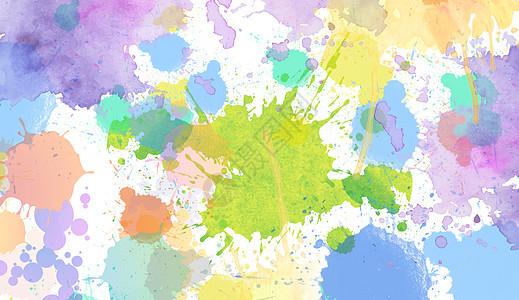 色彩喷溅图片