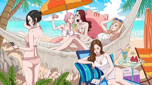 海滩派对图片