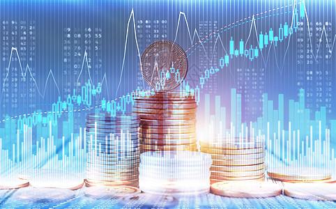 金币金融曲线概念图片