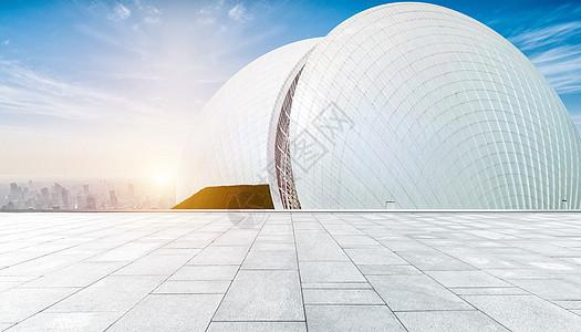大气建筑地面背景图片
