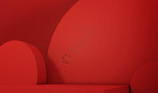 c4d红色创意背景图片