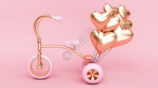 浪漫自行车场景图片