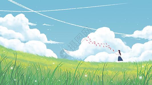 清新草地风景图片