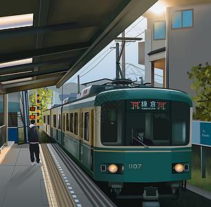 夏日火车旅行图片