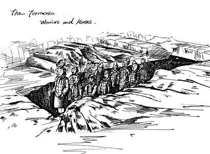 西安秦兵马俑图片