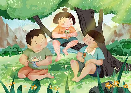 三小孩儿图片