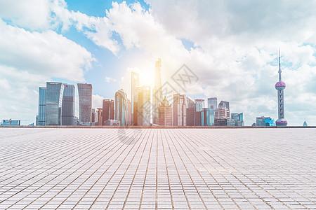 商务城市地板背景图片