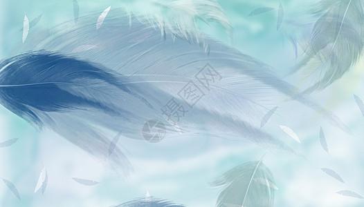 羽毛背景绿色图片