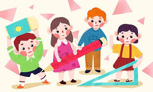儿童与文具图片