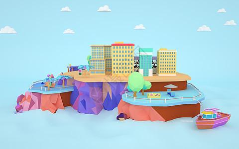 卡通城市 城市建设 城市规划图片