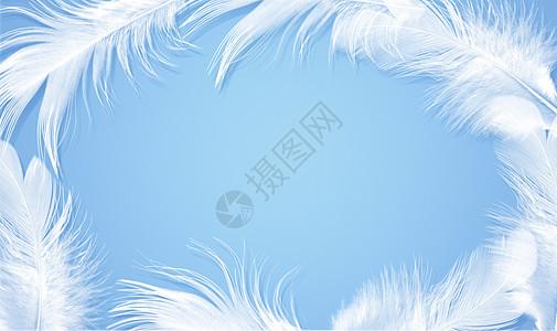 小清新羽毛背景图片