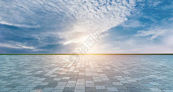 地面天空背景图片