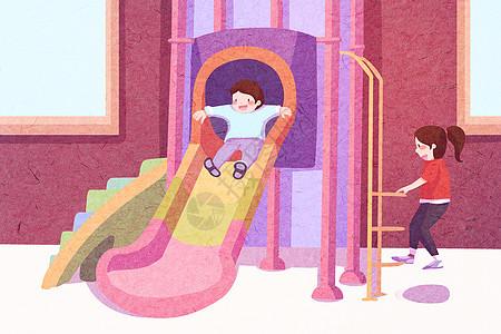 六一儿童节创意插画图片