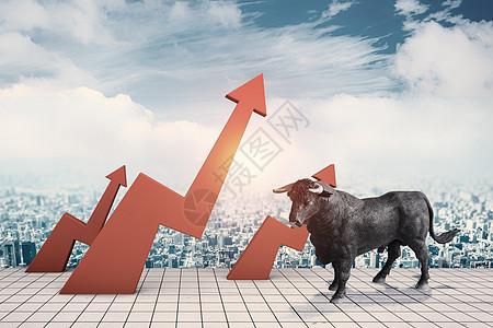 股市上涨图片