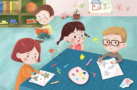 儿童教育美术课图片