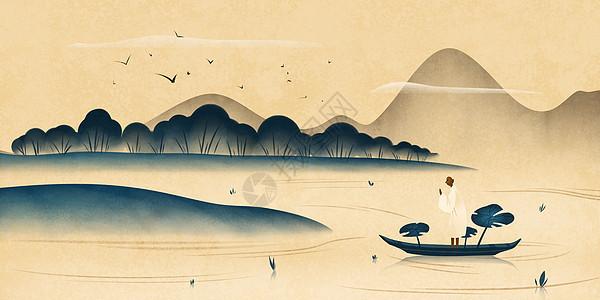 国风山水风景画图片