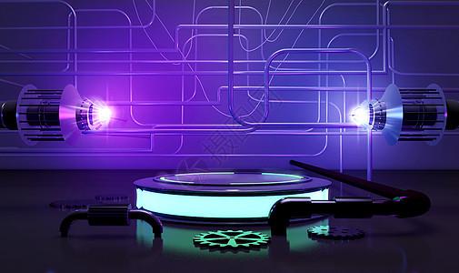 电商霓虹背景图片