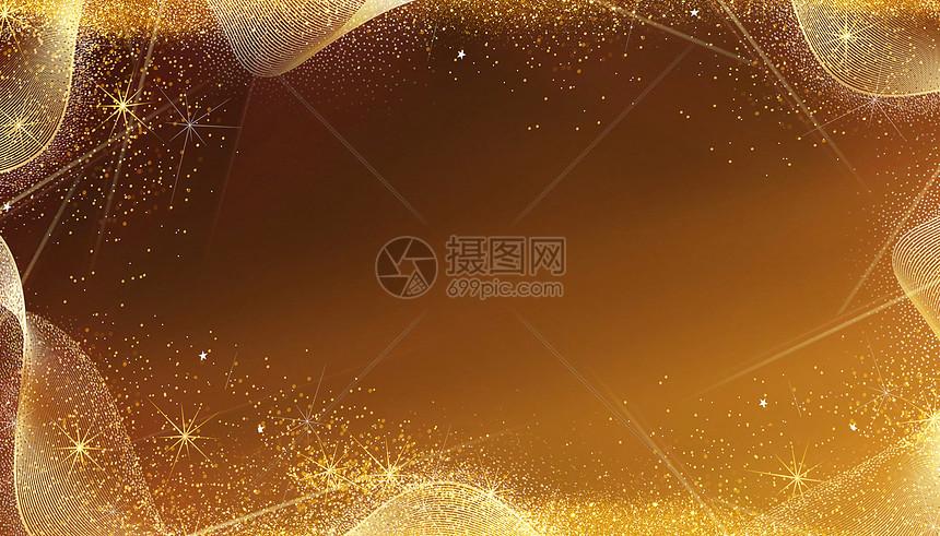 金色粒子背景图片