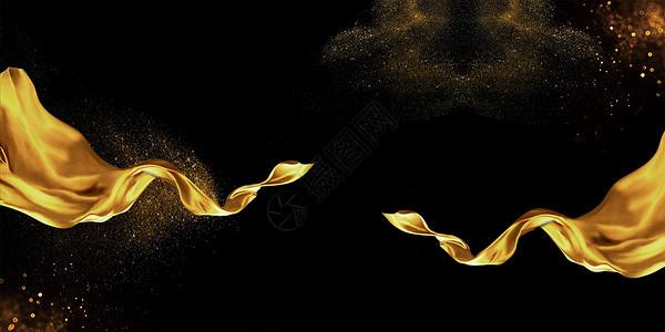 金色飘带背景图片