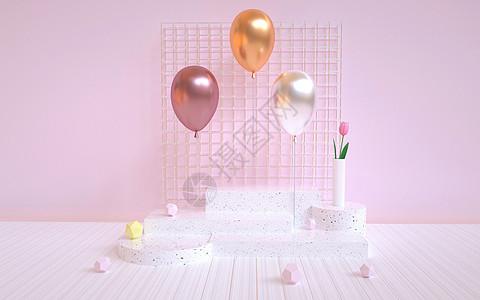 气球模型小场景图片