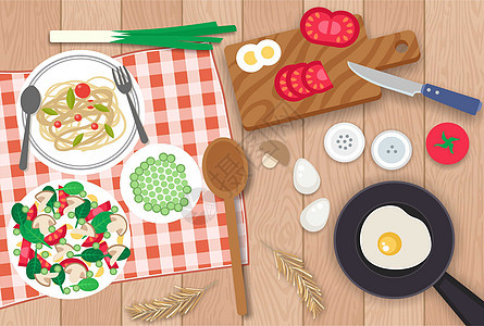 晚餐食材图片